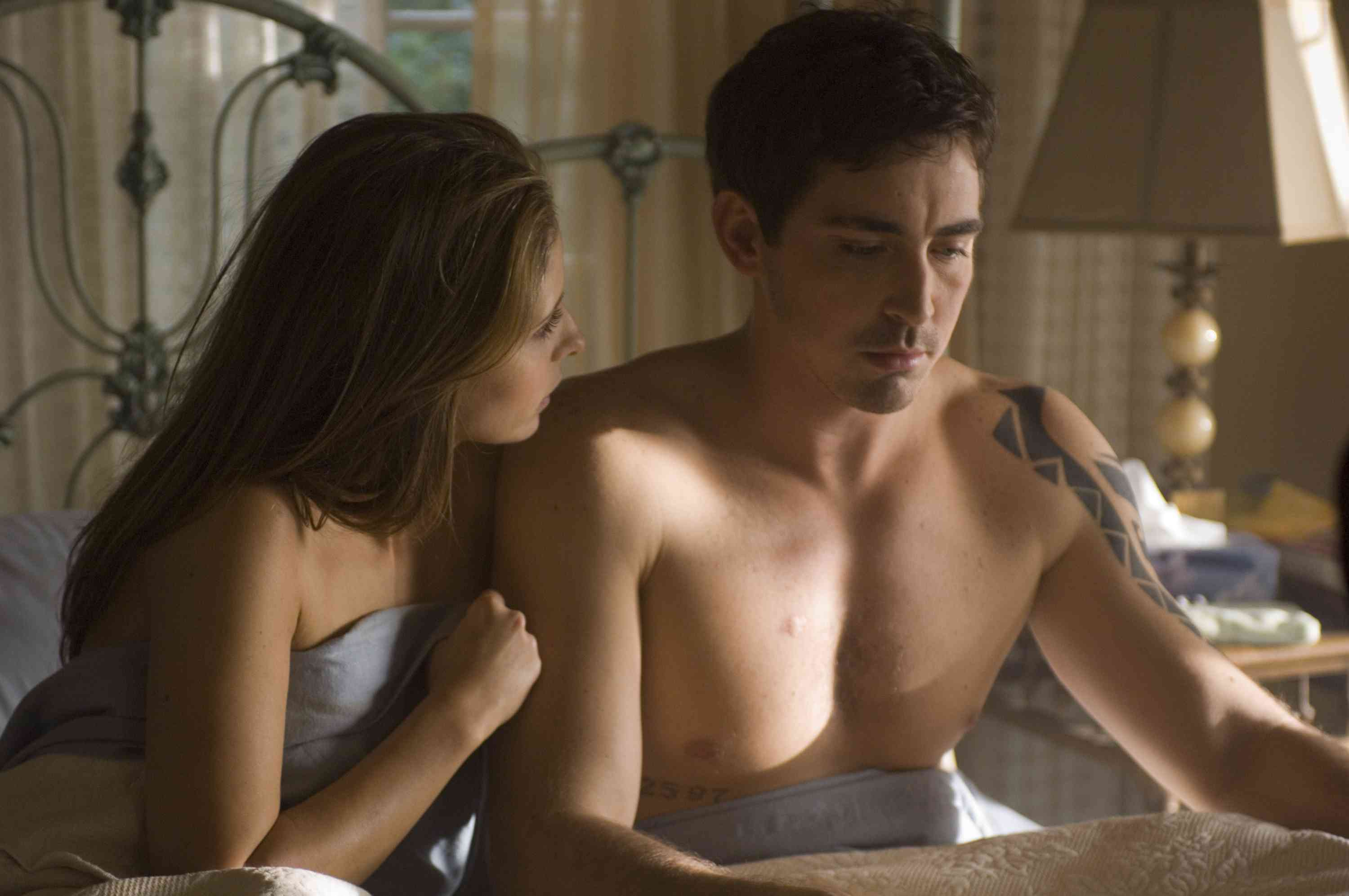 The beautiful Lee Pace in bed with Sarah Michelle Geller