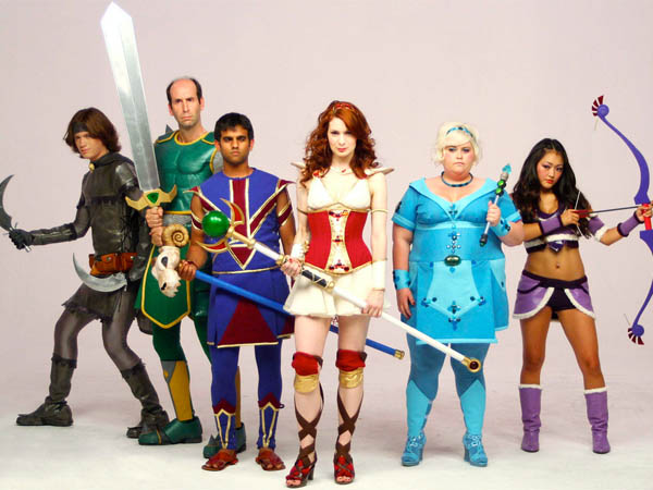 The Guild cast in the costumes of their avatars