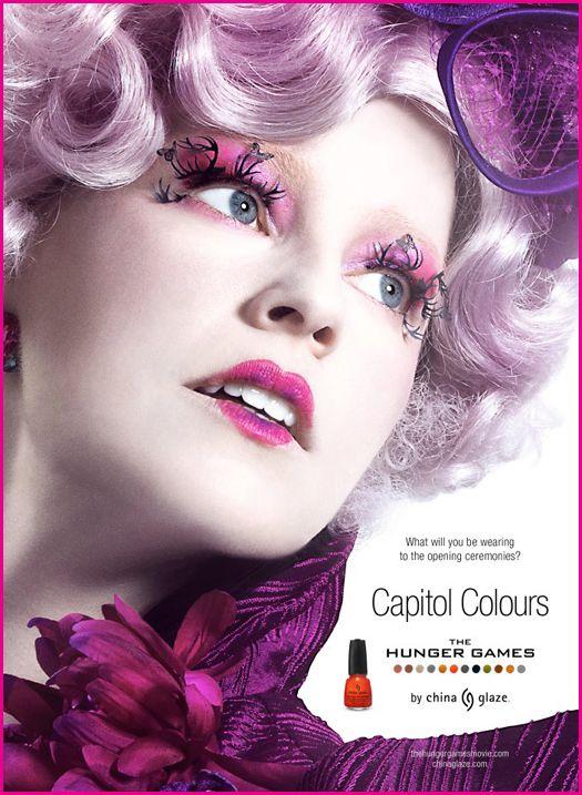 Effie Trinket, advertising 'Capitol Colours Nail Polish'