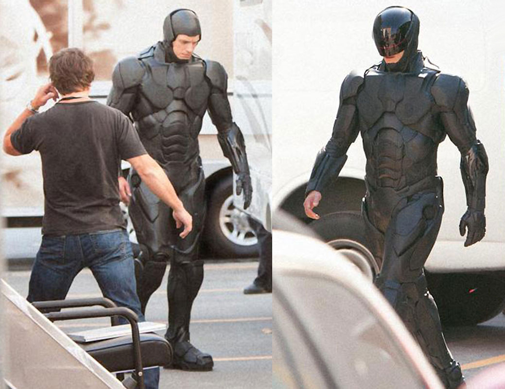 Behind the scenes images of the new Robocop suit
