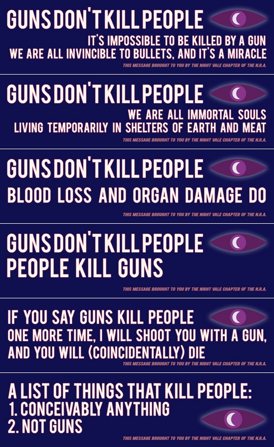 Night Vale NRA bumper stickers