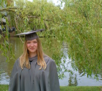 Me graduating from my BA.