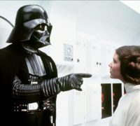 Leia standing up to Darth Vader in A New Hope